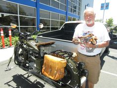 "Winner of the ""People's Choice"" award, Frank Colver, and his 1941 Indian Scout."