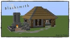 Minecraft Medieval Blacksmith Design Ideas 32501