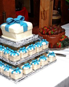 Wedding, Reception, Cake, White, Brown, Blue, Grooms cake, White grace photography