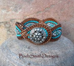 Turquoise Silver Brown Cuff Bracelet - The Twisted Sister by BarbSmithDesigns on Etsy https://www.etsy.com/listing/286317333/turquoise-silver-brown-cuff-bracelet-the
