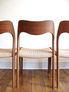 RESERVED: Five Exquisite Niels Moller Chairs door elefantdesign
