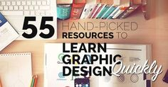 Want to learn graphic design? Here's a list of the best links on the internet to get you started right away. Get our exclusive design learning checklist too!