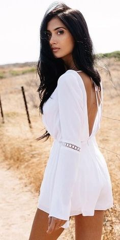 #summer #trending #outfitideas | Little White Romper