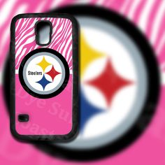 Pink Zebra Print Pittsburgh Steelers Design on Samsung Galaxy S5 Black Rubber Silicone Case by EastCoastDyeSub on Etsy https://www.etsy.com/listing/196345146/pink-zebra-print-pittsburgh-steelers