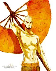 Avatar Aang - adult by Serena-Kenobi.deviantart.com on @deviantART He grew up well :3