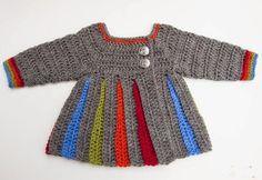 Renkli Çizgili Bebek Hırkası Tarifi