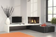 modern electric fireplace - Google Search