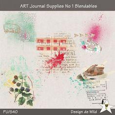 ART Journal Supplies No 1 Blendables | Design de Wild