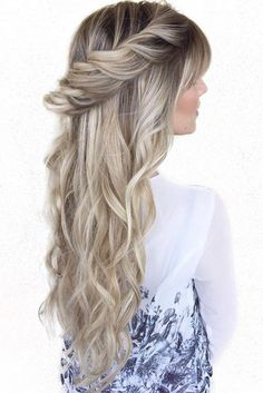 Hair Expert @hairby_chrissy's custom toned Ash Blonde #LuxyHairExtensions on @kendyevans braided into this romantic hairstyle <3