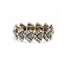 Jeweled bracelet.