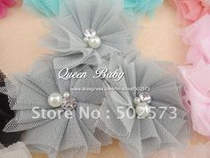 How To Make Tulle Flowers For Hair Clips.... For the flower girls!!
