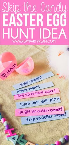 Love this no-candy Easter egg hunt ideas! And the other 10 fun Easter egg hunt ideas that work for all ages - for older kids, for adults, for teens, for toddlers, or even for babies! Children will love the unique spin on an Easter favorite!