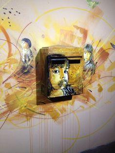 """C215 Expo """"au-delà du street art"""" Musée de la Poste, PAris 2013"""