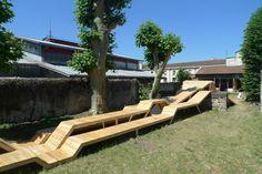 mobilier urbain en bois - le bruit du frigo à Bordeaux - OlivierBEDU