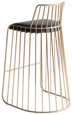 Bridesveil-stool-by-phase-stools-metal-modern crazy cool brass bar stools Marisa Marcantonio Marisa Marcantonio loves it Brass Bar Stools, Counter Stools With Backs, Metal Stool, Bar Counter, Gold Stool, Furniture Decor, Furniture Design, Furniture Movers, Furniture Market