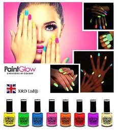 Genuine #paintglow glow in the dark nail varnish #bright neon fluorescent #polish,  View more on the LINK: http://www.zeppy.io/product/gb/2/262500990729/