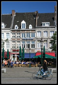 Maastricht, Netherlands. Charming Maastricht, where we had lunch and watched the bicycle races.