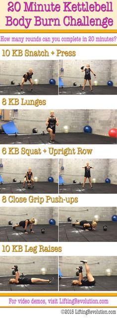 kettlebell 20 minute challenge workout