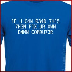 If You Can Read This Mens Womens T-Shirt Fix by signaturetshirts