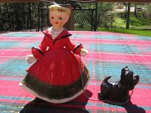 1956 Porcelain Christmas Lady With Scottie
