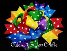 Funky, bright, and colorful loopy bow