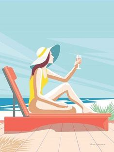 Framed South Beach Sunbather I Print