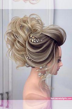 102 Beautiful Wedding Hairstyles And Bridal Hair Ideas Hair Up Styles, Long Hair Wedding Styles, Elegant Wedding Hair, Wedding Hairstyles For Long Hair, Bride Hairstyles, Down Hairstyles, Perfect Wedding, Short Hair, Hairstyle Ideas