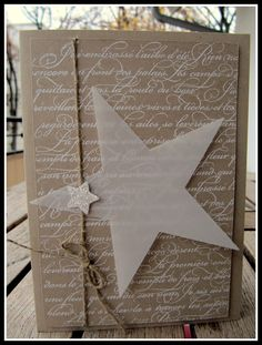 54 ideas diy paper stars stampin up Diy Christmas Wedding, Christmas Card Crafts, Stampin Up Christmas, Christmas Paper, Handmade Christmas, Holiday Cards, Merry Christmas, Star Cards, Winter Cards