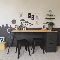 kidsdesignlife from this post incy_interiors from this post mommo design from this post minalulu from this post . Childrens Desk, Deco Kids, Kid Desk, Desk For Kids, Ikea Kids Desk, Ikea Alex Desk, Boys Desk, Corner House, Room Corner