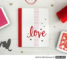 Repeated Sentiment Cards from Kelly Rasmussen for Hero Arts - Scrapbook.com