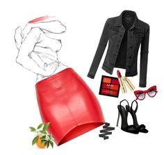 """Red."" by amarenalive on Polyvore featuring Giuseppe Zanotti, LE3NO, NYX and Dolce&Gabbana"
