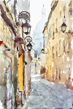 Montmartre street, Paris by piker77, via Flickr