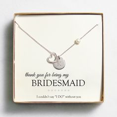 Personalized Open Heart Charm Necklaces. I love this bridesmaid necklace!