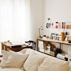 living room // workspace // white