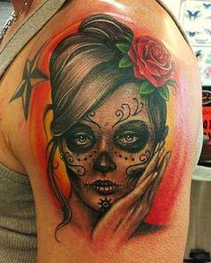 amy lou tattoos – Tattoo Tips Key Tattoos, Girly Tattoos, Great Tattoos, Foot Tattoos, Flower Tattoos, Sleeve Tattoos, Butterfly Tattoos, Mexican Skull Tattoos, Sugar Skull Girl Tattoo
