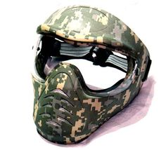 Hakkotsu full face airsoft mask low fog ACU H1-3 by Hakkotsu. $24.99. Hakkotsu low fog full face airsoft mask H1-3 - ACU  The Hakkotsu Full face mask is perfect for the player that wants full head protection on the airsoft field or in CQB environments. The low-fog coating ensures that you have the best field of vision at all times. This tough airsoft helmet can withstand point blank shots of up to 400 FPS. The lenses are replaceable too, so this mask will last a l...
