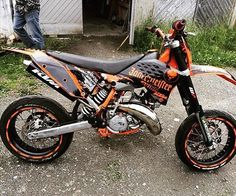 Jägermeister decor on a KTM Pic from @chriiscv _____________________________________ #grenzgaenger #grenzgänger #bikegeneration #supermoto #Ktm #gopro #supermotard #ktmsixdays #exc #moped #rims #moto #motorcycle #motocross #yamaha #drz #enduro #4stroke #akrapovic #yamaha #MX #kawasaki #suzuki #jägermeister #smcr #wheelie #125cc #bikeporn #2stroke #husqvarna _____________________________________ Send us your pictures of your bikes via InstaDirect by bike_generation