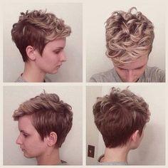 Pretty Short Haircuts for Women: Short Hair Styles Pixie Haircut with Curly Hair - 2015 Short Hairstyles for Spring and SummerPixie Haircut with Curly Hair - 2015 Short Hairstyles for Spring and Summer Curly Hair Cuts, Short Curly Hair, Curly Hair Styles, Curly Girl, 2015 Hairstyles, Pixie Hairstyles, Cool Hairstyles, Hairstyle Ideas, Asian Hairstyles