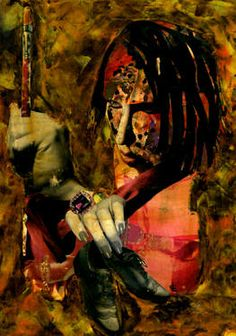 "Saatchi Art Artist CARMEN LUNA; Collage, ""46-Collagemania Carmen Luna. Marilyn Manson."" #art http://www.saatchiart.com/art-collection/Assemblage-Collage/Collagemania-CARMEN-LUNA/71968/46137/view"