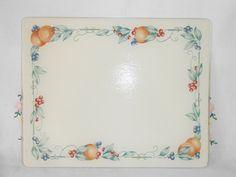 Corning Corelle retired AbundanceTempered Glass COUNTER SAVER / Cutting Board 12 x 15 by WeBGlass on Etsy