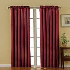 Beautiful Red Green Curtains