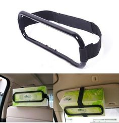 Car+Sun+Visor+Tissue+Paper+Napkin+Box+Holder+Auto+Seat+Back+Clip+Bracket(BICP054508)