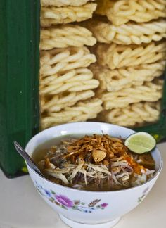 #INDONESIAN CUISINE | SOTO KUDUS Soup with KERUPUK Chips.