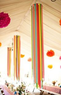 Easy homemade paper decorations that are sure to be the talk of the party. - Easy homemade paper decorations that are sure to be the talk of the party. Easy homemade paper decorations that are sure to be the talk of the party. Diy Party Dekoration, Paper Chandelier, Hula Hoop Chandelier, Chandelier Ideas, Ceiling Chandelier, Crepe Paper Streamers, Party Streamers, Wedding Streamers, Streamer Ideas