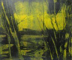 Original Print 10x12 Art Contemporary Abstract Landscape