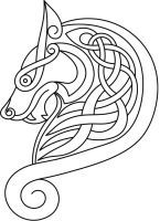 Vector Celtic Wolf by Lupas-Deva (TAG: DO IT YOURSELF INSPIRATION; PATTERN; IMAGE LINK=>DEVIANT ART SITE WITH MORE PATTERNS)