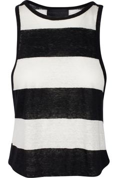 Designer Clothes, Shoes & Bags for Women Striped Jersey, Striped Tank Top, Striped Linen, Stripe Top, Chic Outfits, Tank Tops, Shopping, Women, Style