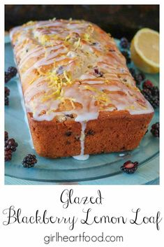 Blackberry bread with lemon is such a fun way to use fresh blackberries. This berry bread bakes up wonderfully, is incredibly moist and so delicious! Top with a simple icing sugar glaze or enjoy as is with your favourite cup of tea or coffee. #blackberryrecipe #blackberrybread #berrybread #blackberryloaf #blackberrylemonloaf #blackberrylemonbread #recipeusingblackberries Blackberry Bread, Blackberry Recipes, Strawberry Recipes, Lemon Bread, Lemon Loaf, Banana Bread, Pastry Recipes, Dessert Recipes, Desserts