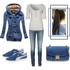 A fashion look from November 2013 featuring Fresh Made tops, Vero Moda jeans and Puma sneakers. Browse and shop related looks.