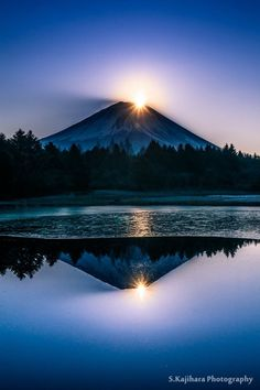 Mt. Fuji, Japan  It is amazing how different Fuji can look in different light as well as seasons. - NIHAN